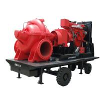 Trailer mounted fire fighting pump