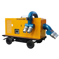 Silent type diesel driven pump with trailer